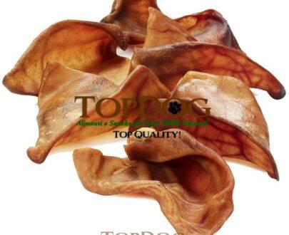Orecchie di maiale essiccate per cani 500gr