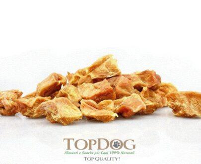 Petto di pollo secco a cubetti per cani